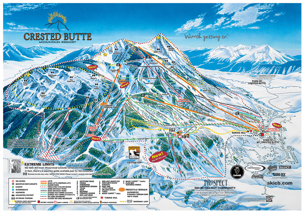 Crested Butte, Colorado Trail Map/Webcams